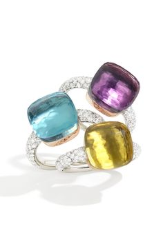 Pomellato - Pomellato Nudo Rings with Diamonds from Osterjewelers.com