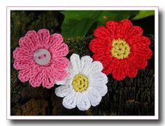 Crochet flower à la Miss Elsa