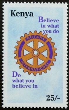 Kenya 25/- Rotary Club 50th Anniversary Issue