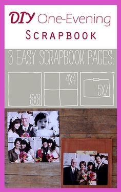 A DIY scrapbook is the best way to store your memories, and is fun to do in your free time! Store small trinkets, tickets, pictures and more in this book! How To Make Scrapbook, My Scrapbook, Diy Projects Cans, Cool Diy Projects, Artsy Fonts, Homemade Crafts, Diy Crafts, Scrapbook Sketches, Scrapbook Layouts