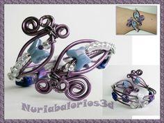 Nuriabalorios3d: Pulseras de alambre y abalorios
