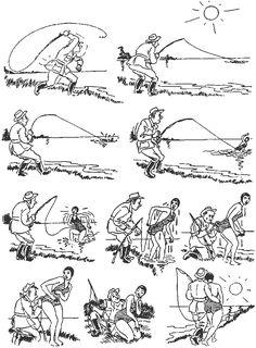 What a Catch. Vintage cartoons by the Danish artist Herluf Bidstrup.