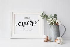 """Poster+zur+Hochzeit+""""Monochrom-Best+Day""""+Druck+von+Design-Grusskarten+auf+DaWanda.com Bike Wedding, Monochrom, Best Day Ever, Etsy, Poster, Design, Home Decor, Bicycle Wedding, Printing"""
