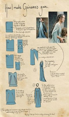 13 DIY Clothing Refashion Ideas with Picture Instructions Vestido medieval dye Diy Clothes Refashion, Diy Clothing, Sewing Clothes, Dress Sewing, Dress Tutorials, Sewing Tutorials, Sewing Patterns, Dress Patterns, Sewing Hacks