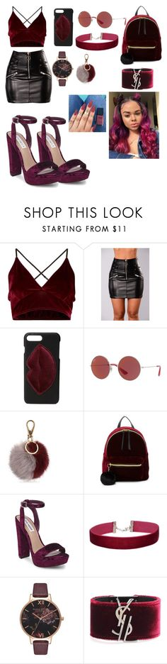 """❣️"" by majesticqveenn ❤ liked on Polyvore featuring Kendall + Kylie, Ray-Ban, Salvatore Ferragamo, T-shirt & Jeans, Steve Madden, Miss Selfridge, Olivia Burton and Yves Saint Laurent"