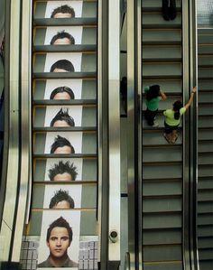 Advert on escalator