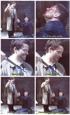 Supernatural Season 8 gag reel (: Jensen & Misha being rotten!!  Love this whole blooper scene :)