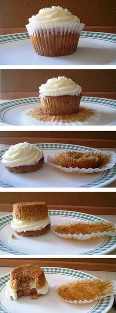 The best way to eat a #cupcake. No mess!