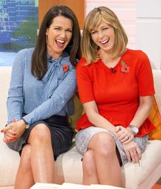 Susanna Reid wears sexy leather pencil skirt as she presents GMB with Kate Garraway.