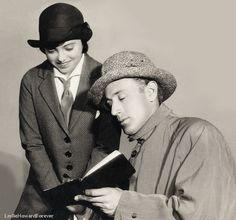 """With Geraldine Kaye in """"Escape"""", 1928"""