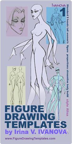 female figure drawing templates - irina v. ivanova