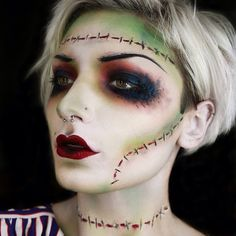 Frankenstein's Bride Halloween Makeup