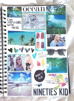 collage discovered by Paty Pegorin on We Heart It Notebook Collage, Diy Notebook, Notebook Covers, Collage Book, Tumblr Scrapbook, Scrapbook Journal, Wreck This Journal, Diy School Supplies, Smash Book