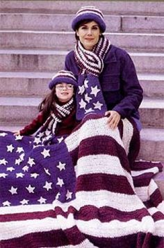 American Flag Afghan. I'll probably never make this, but it intrigues me.
