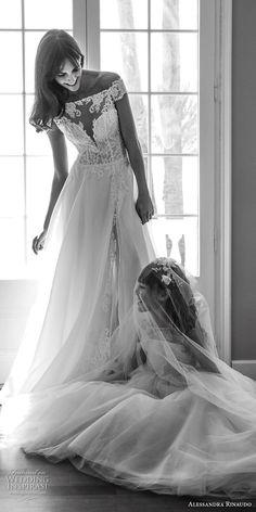 alessandra rinaudo 2018 bridal off the shoulder illusion straigh across sweetheart neckline heavily embellished bodice romantic soft a  line wedding dress lace back long train (29) mv -- Alessandra Rinaudo 2018 Wedding Dresses