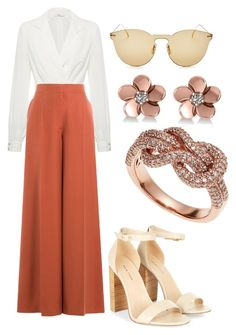 A fashion look from August 2017 featuring corset tops, high waisted pants and leather shoes. Browse and shop related looks. Teen Fashion Outfits, Look Fashion, Womens Fashion, Fashion Design, Cute Casual Outfits, Stylish Outfits, Mode Ulzzang, Elegantes Outfit, Looks Chic
