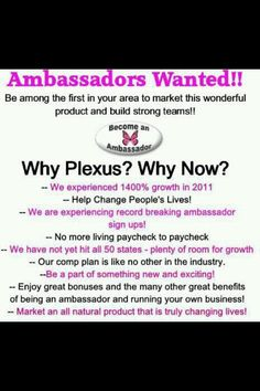 Plexus Slim Ambassadors wanted! Join my team!!!  www.aguder.myplexusproducts.com Ambassador#106162