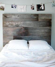 A simply sentimental sleeping area (with a dreamy #DIY headboard).