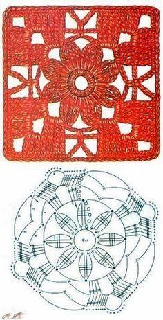 Crochê Gráfico: SQUARE DE CROCHÊ