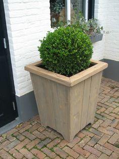 Houten bloembak | Steigerhouten meubels | geWoonbasic