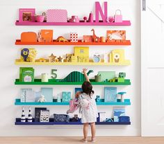 Find decor and lighting for you nursery and kids rooms. Shop Pottery Barn Kids for decor, lighting, storage, and more. Nursery Name Decor, Kids Wall Decor, Playroom Decor, Bedroom Decor, Bedroom Shelves, Playroom Storage, Playroom Ideas, Toy Storage, Storage Ideas