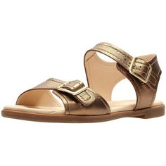 73f31bb51 Clarks Bay Primrose Two Strap Flat Sandal ( 56) ❤ liked on Polyvore  featuring shoes