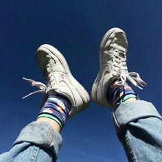 Imagem de sky, shoes, and blue