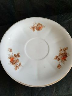 Antique Latvia Empire porcelain plate saucer Imperial kuznetsov Kuznecovs #Empire #Kuznecovs