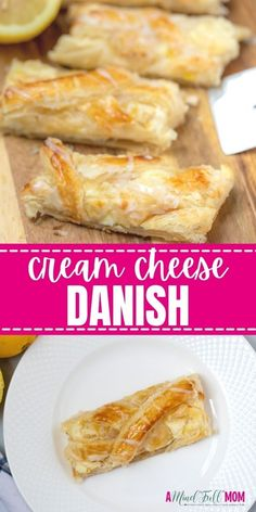 This recipe for a homemade cream cheese danish could not be easier to make, thanks to taking a shortcut and using store-bought puff pastry. While absolutely perfect served plain, you can also opt to add berries or chocolate to your danish, for a delicious twist. Breakfast Casserole With Biscuits, Breakfast Dishes, Breakfast Recipes, Breakfast Ideas, Cream Cheese Danish, Make Cream Cheese, Frozen Pastry, Oven Baked Bacon, Real Food Recipes