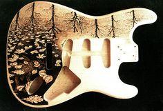 Custom Fender Guitar Body Pyrography