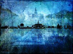 Skyline von Kassel  Ein Traum in blau...