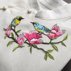1 шт. цветок птица логотип diy декоративные аксессуары железный патч ткань одежды вышитые аппликация патчи для одежды