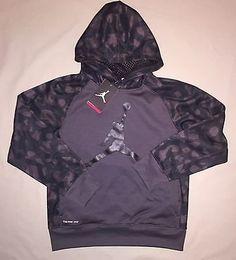 6eac95df33b9 Air Jordan Flight Black Hoodie Sweatshirt Hooded Basketball Youth Boys Size  L  AirJordan  Hoodie