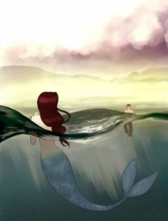 from Siren's Lament by istantmiso Manga Anime, Film Manga, Art Manga, Fanarts Anime, Fantasy Creatures, Mythical Creatures, Sea Creatures, Siren Mermaid, Mermaid Art