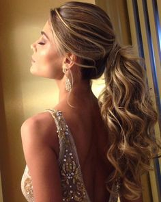 DIY Ponytail Ideas You're Totally Going to Want to 2019 DIY Ponytail Ideas You're Totally Going to Want to 2019 Adorable Ponytail Hairstyles; Classic Ponytail For Long Hair; Dutch Braids To A High Pony;High Wavy Pony For Shoulder Length Hair Wavy Wedding Hair, Classic Wedding Hair, Wedding Hairstyles For Long Hair, Wedding Hair And Makeup, Braided Hairstyles, Hair Makeup, Ponytail Wedding Hair, Ponytail Hairstyles For Prom, Ball Hairstyles