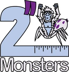 """Logo for the eleventh batch of 2"""" Monsters. This one features the Arachnoyeti."""