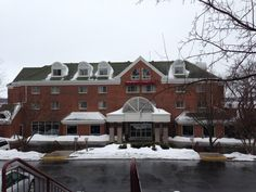Clear skies and snow in this Foursquare photo taken at Heidel House Resort & Spa by Patrick O. in late March 2013.