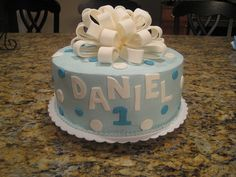 Boy's 1st Birthday cake by jerseycakegirl, via Flickr
