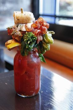 The 11 Best Bloody Marys in Chicago: Sunda. You COULD do the Bloody Mary cart. But what's the fun in that when you can wrestle 32oz of the Sumo Mary? This beverage-and-meal-in-one is Chicago's most ridiculous Bloody Mary because it's ridiculously amazing. With a unique Asian flavor, its massive garnishes include a baked Alaska crab roll, a Chinese duck bao bun, pork belly, grilled cheese with tocino, oshinko, #chicago #travel #adventure #drinking #life #food #fun #like #follow
