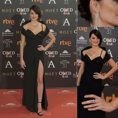 For this year's 31th Annual Goya Film Awards in Madrid actress Penelope Cruz @penelopecruzoficial stunned in Chopard @chopard Jewelry in a pair of  earrings in 18ct Fairmined white gold featuring pear-cut diamonds and diamonds  from The Green Carpet Collection a ring in 18ct white gold set with diamonds and featuring a pear cut diamond and a ring in 18ct white gold set with diamonds and featuring and oval cut purple purple sapphire both from the High Jewellery collection. Her gown was a…