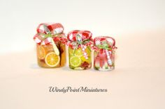 Preserved Fruit in dollhouse miniature by WindyPointMiniatures