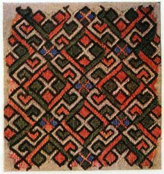 Croatian silk embroidery for a cap, 17th century.