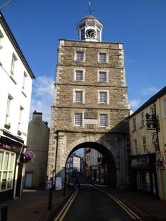 The Clock Tower in Yougal, which was originally a medieval gate into the town