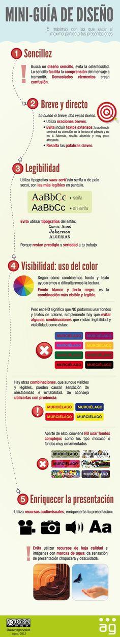 Mini-guía de diseño para presentaciones (Infografía) | Bibliotecas Escolares Argentinas | Scoop.it