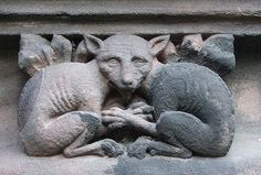 Chester Cathedral Beasty frieze