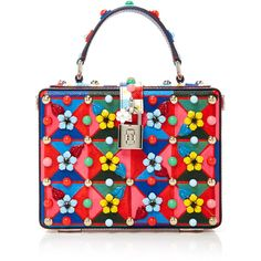 Dolce & Gabbana     Floral Box Bag (15.130 RON) ❤ liked on Polyvore featuring bags, handbags, red, dolce gabbana handbags, flower print bag, floral handbags, red handbags and floral print purse