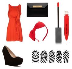 """""""Black and Red"""" by ana-spatacean on Polyvore featuring Toy G., Kate Spade, Balenciaga, Burberry and StreetStyle"""