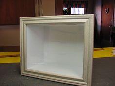 Móveis Dollhouse Miniature - Tutoriais | minis 1 polegada: Como construir uma caixa quarto rápida com núcleo de espuma e um quadro comprado.
