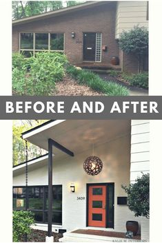 Exterior renovation before and after - A Stunning Exterior Makeover Painted Brick and More! – Exterior renovation before and after Café Exterior, Exterior Remodel, Modern Exterior, Exterior Design, Diy Exterior Renovations, Cheap Renovations, Craftsman Exterior, House Renovations, Exterior Colors