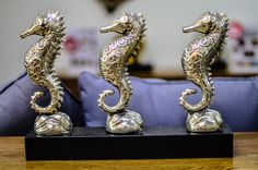 Another beatiful piece from our #homeaccessories collection. This #seahorse set and more #goodfinds available in #dubai at Archipelago showroom.